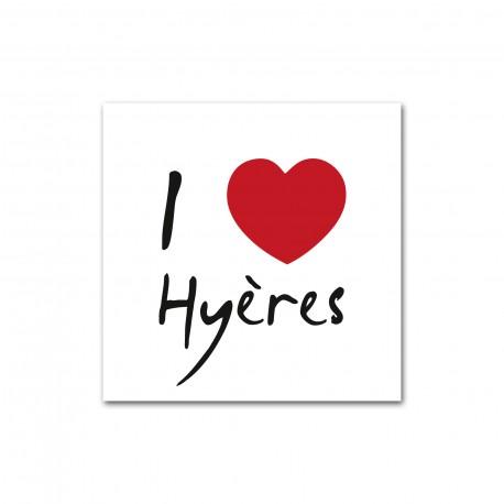 Autocollant I love Hyères