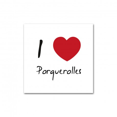 Autocollant I love Porquerolles
