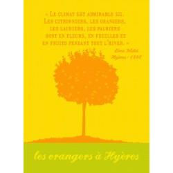 Torchon Les orangers à Hyères