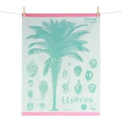 Palmier Hyérois : torchon Maison Moutet (fabrication française)