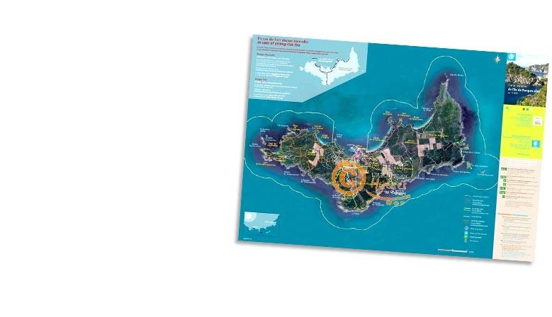 Carte des circuits de randonnée Porquerolles